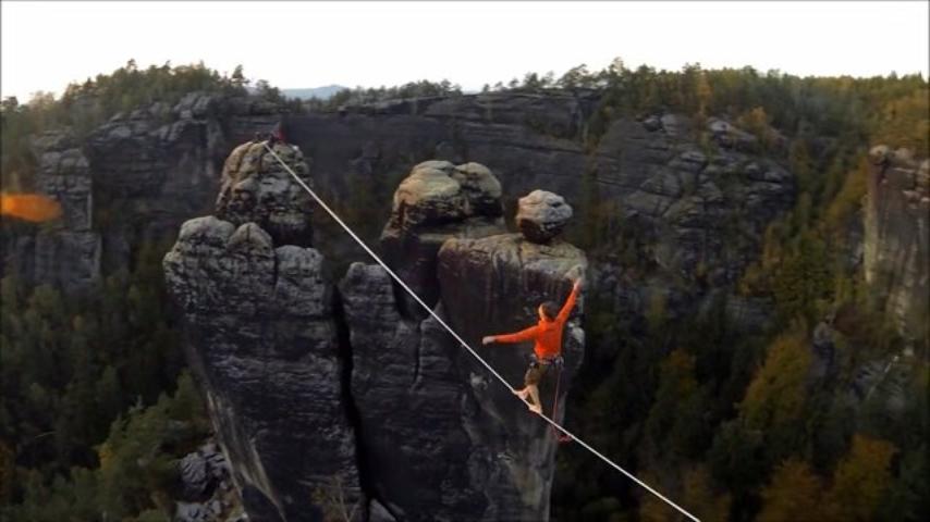 Auf Messers Schneide - eine Highline Dokumentation