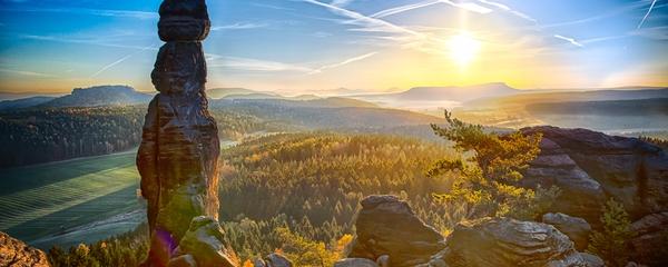 Sonnenaufgang-Pfaffenstein